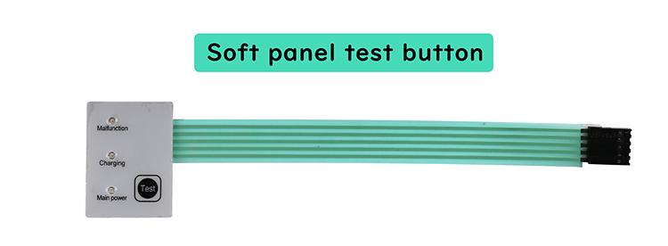 soft panel LED emergency light test button